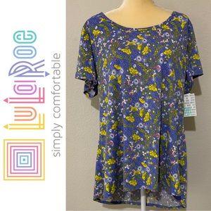 LuLaRoe Floral Classic T Shirt Sz 2XL